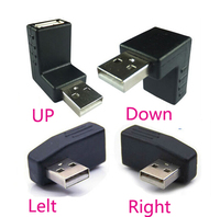 4PCS 90 Degree Right Angle Usb Male To Female Connector Redirectional Adapter Left Right Up Down