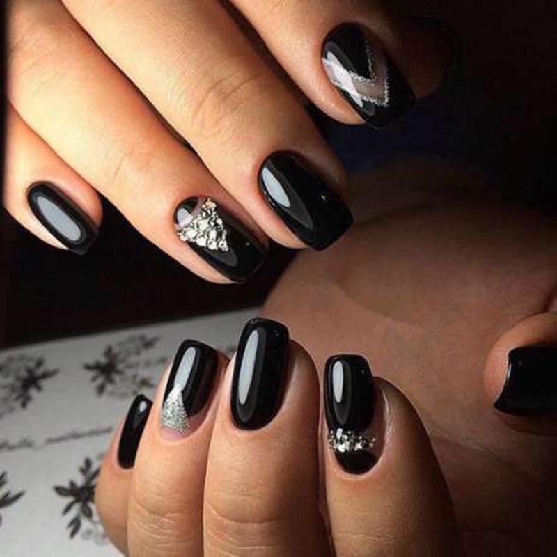 Gel Len Nail Polish White Pink Black French Manicure Tip Nail Polish ...