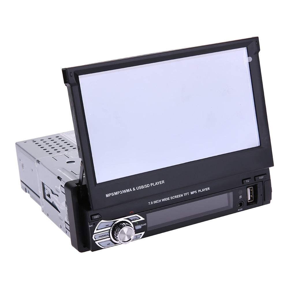 Universal 7 Inch Telescopic Large Screen Bluetooth Car MP5 Player Car Vehicle DVD FM/MP5 Auto Radio Player High Quality Player цена