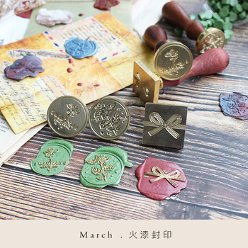 Moodtape personality wooden stamp wood wax seal stamp for DIY Gift / Invitation album Decorative stamp bowknot metal stamp seal фото