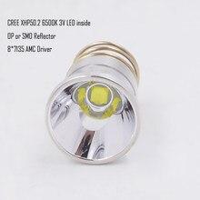 Bombilla LED de 26,5mm XHP50.2 3V, 2600 lúmenes, para Surefire C2 Z2 P60 P61 6P 9P G3 S3 D2 Manta Ray M5 M6 WF-501B antorcha de WF-502B