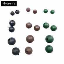 Hyaena 50pcs Diameter 4mm 5.5mm 8mm Soft Carp Fishing Beads Black Green Coffee Round Floating Rig Beads Carp Fishing Tackle