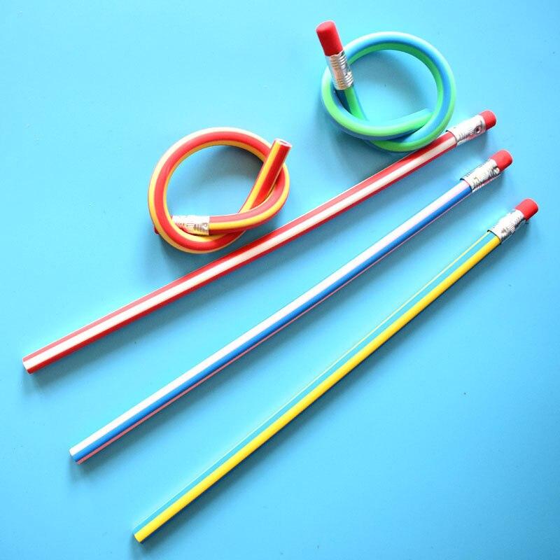 Hot Sale (20 Pieces/Lot) Colorful Magic Bendy Flexible Soft Pencil ...