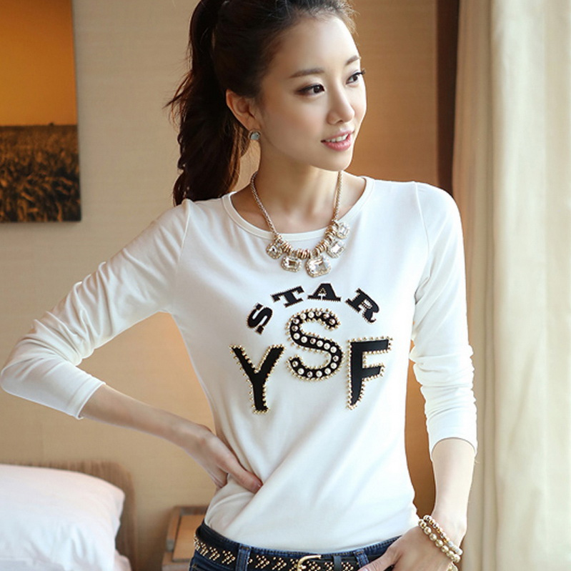 Fashion letter 100 cotton women tops new summer tshirt for Full hand t shirts for womens
