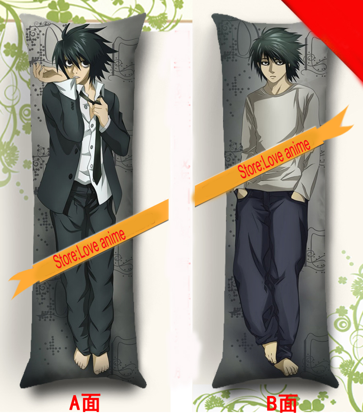 Japanese Anime Death Note L Cosplay BL Dakimakura Hugging Body Pillow Case Cover
