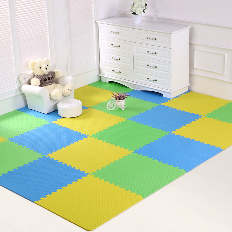 JCC mélange feuille motif bébé EVA mousse Puzzle tapis de jeu/enfants tapis tapis de verrouillage exercice plancher pour enfants carreaux 60*60*1.2 cm - 5
