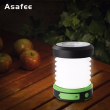 LED Camping Light Solar Lamps Outdoor Rechargeable Camping Lanterns Waterproof Solar Collapsible Lantern for Hiking Tent