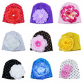 Lindo bebé infantil del algodón del sombrero de la flor Hat gorro de niño de algodón gorros sombrero de la flor muchachas del otoño del resorte sombrero MH072