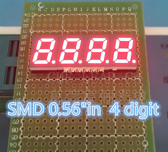 Led Modules Motivated 0.56in 0.56 Smd Led Display 4 Bit Smd Digital Tube 0.56 Inches Red 7 Segment 50*19*3.75mm Common Cathode Digital Display Sales Of Quality Assurance