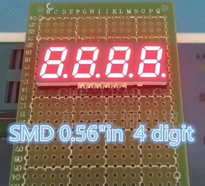 """0.56in 0,56 """"smd Led-anzeige 4 Bit Smd Digital Rohr 0,56 Zoll Rot 7 Segment 50*19*3,75mm Gemeinsame Kathode Digital Display"""