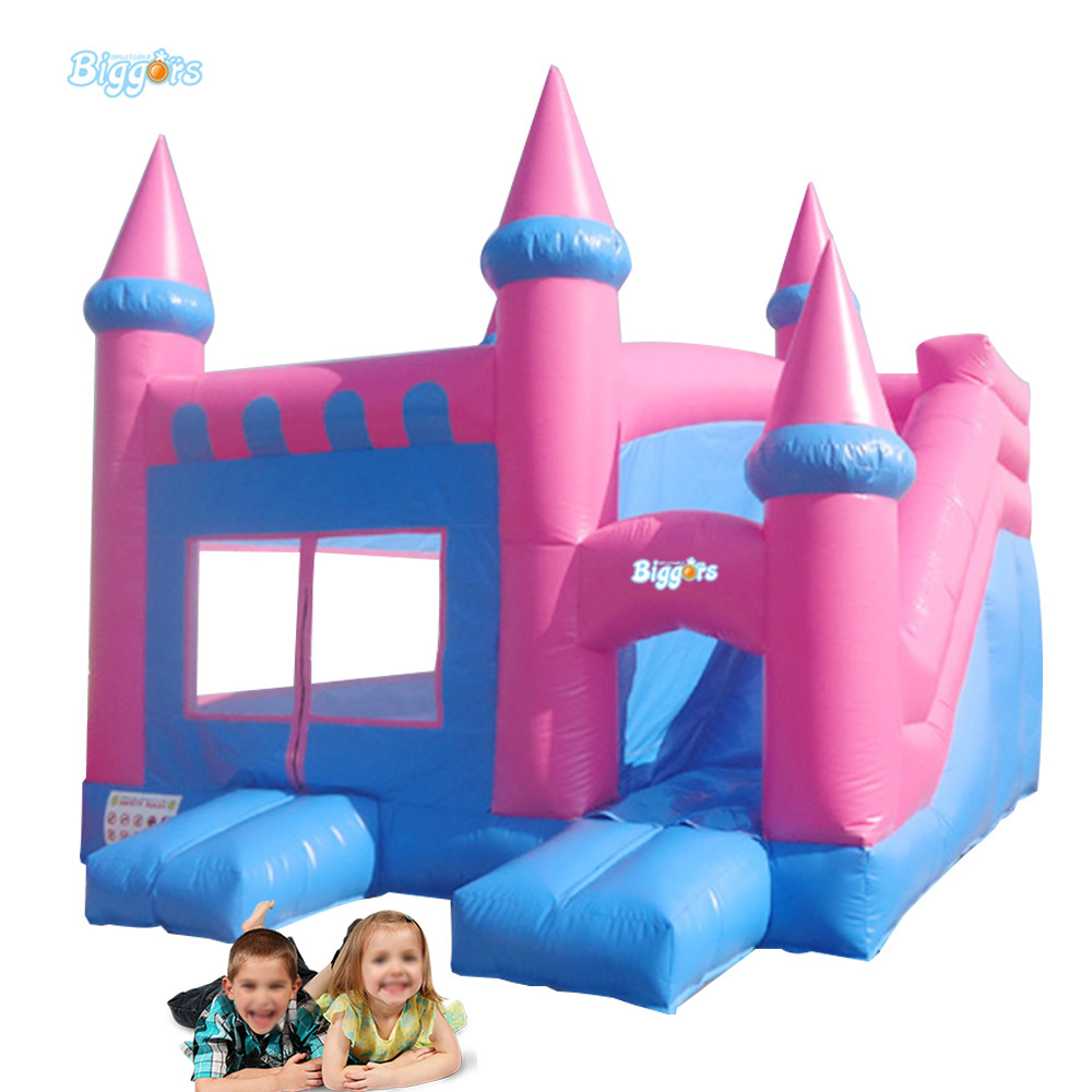 Pink Promotional Mini Inflatable Castle Jumper Castle with Slide funny summer inflatable water games inflatable bounce water slide with stairs and blowers