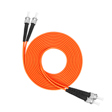 ST to Multimode fiber patch cord  ST/ST Fiber Patch Cable UPC Polish MM Optical jumper Duplex OM2 OFNP 3m 5m 10m 15m
