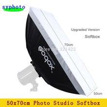 Tax free para a rússia equipamento de fotografia godox 50×70 cm não incluem flash difusor softbox para estúdio flash da câmera luz