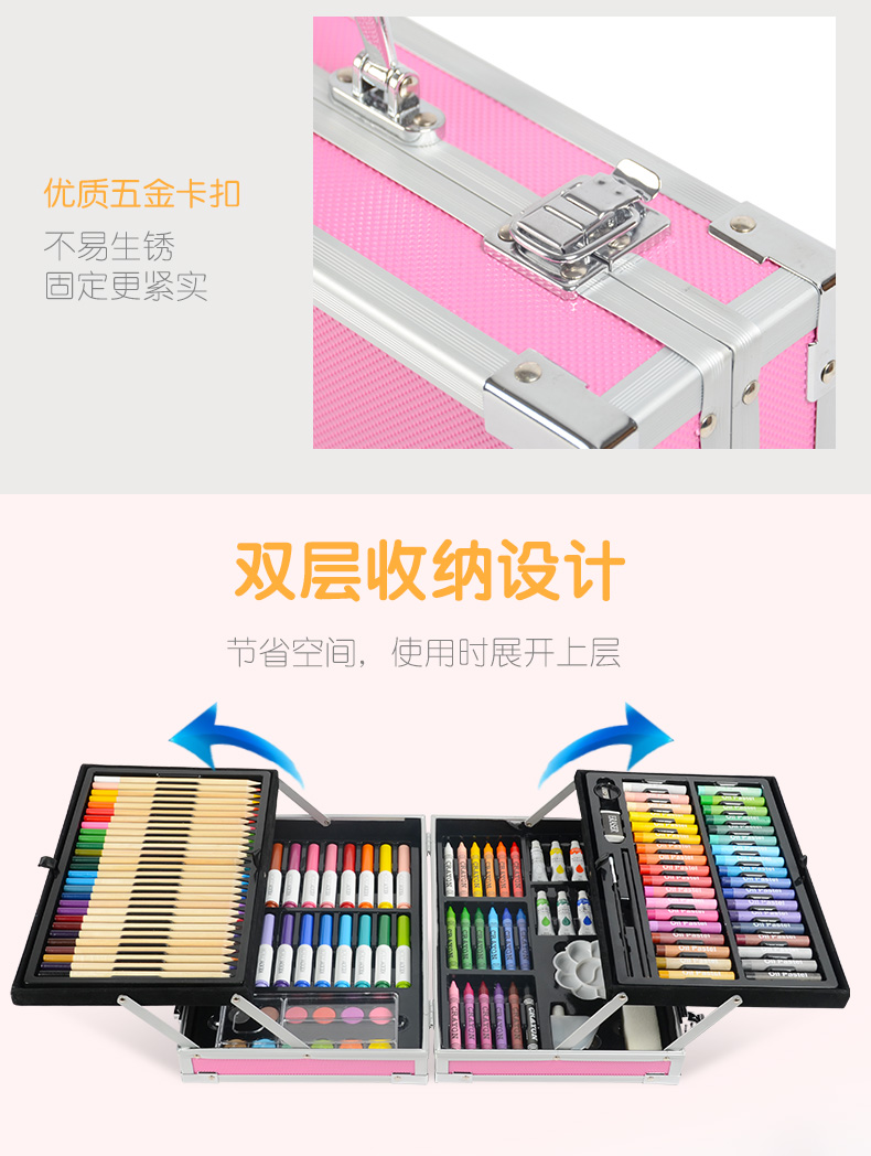 de crayon aquarela, ferramentas de pintura, presentes