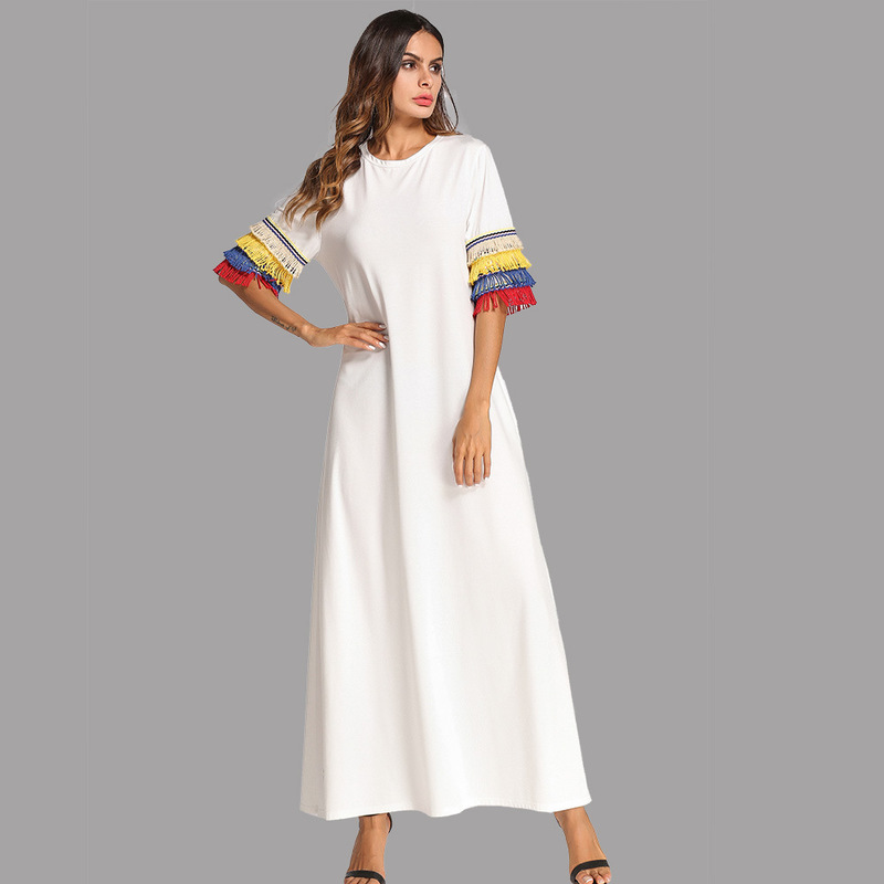 2018 Kaftan Beach Wear Cover Up Bath Suits Dress Bikini Tunic Women's Beachwear 2019 Pass Should Pure Color Ramadan For Robes