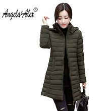 2017 New Women s Coat Casual Hooded Cotton Padded Jacket Women s Parkas Coats Plus Size