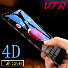4D full screen protector Tempered Glass for iPhone 7 6 6S Plus 3D edge Protective guard Film for iPhone 7 plus Toughened glass