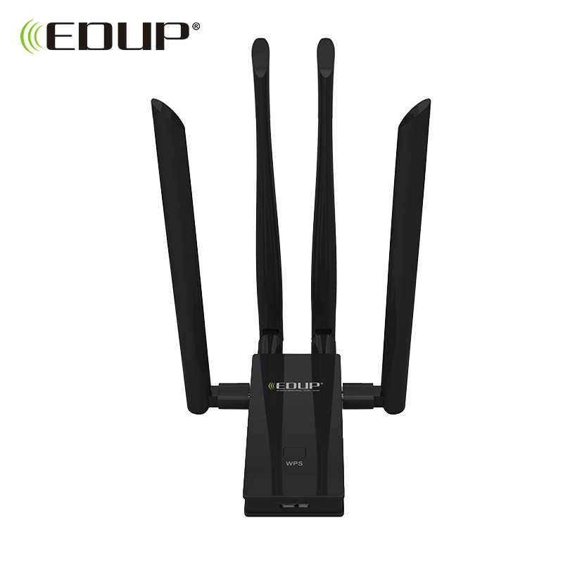 EDUP 5GHz usb wi-fi adapter 1900mbps 802.11ac long distance wifi receiver 4*6dBi antennas Dual Band USB 3.0 Ethernet Adapter