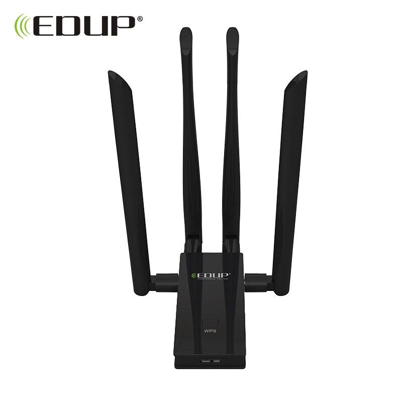 Adaptateur wifi usb 5 GHz EDUP 1900 mbps 802.11ac récepteur wifi longue distance 4 * 6dBi antennes double bande USB 3.0 adaptateur Ethernet