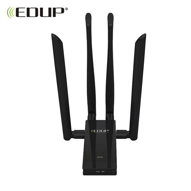 EDUP 5 GHz usb wi-fi adaptörü 1900 mbps 802.11ac uzun mesafe wifi alıcısı 4 * 6dBi antenleri Dual Band USB 3.0 ethernet adaptörü