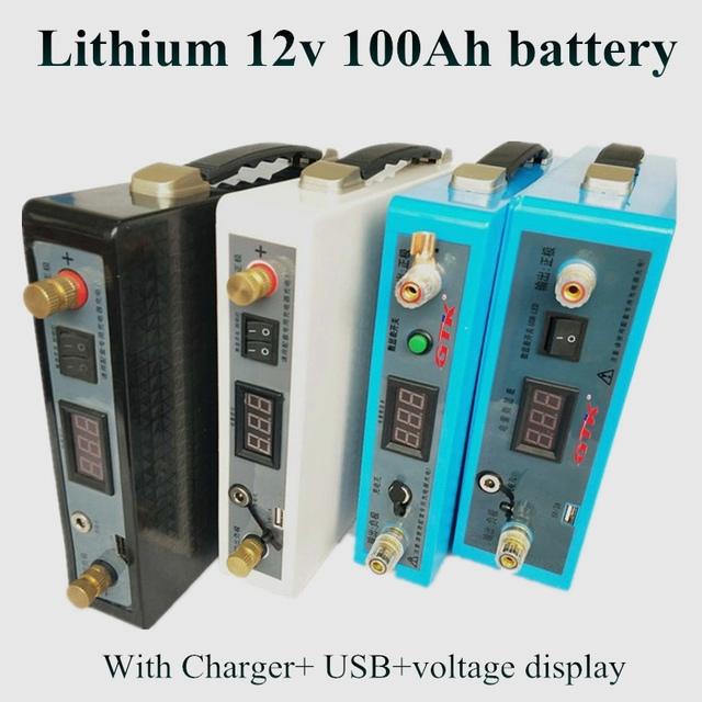 Large capacity 12V 60AH 70Ah 80AH 100AH Solar lithium ion battery UPS  Rechargeable battery power bank bag + charger Backpack USB