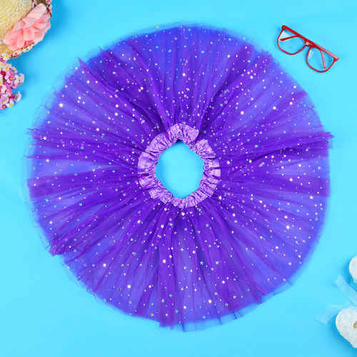 תינוק ילדי בנות חדשות כוכבים פאייטים טוטו חצאיות מסיבת ריקודי חצאית טול תחתונית