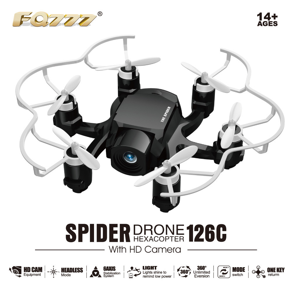 FQ777 Dual Mode RC Drone Dron Headless Mode 360 Degree Eversion Copter with HD Camera Quadcopter 3D Rollover Spider Drones RTF jjrc h12c 6 axis headless mode 2 4g 4ch rc quadcopter 360 degree rollover ufo helicopter professional drone dron 5 0mp hd camera