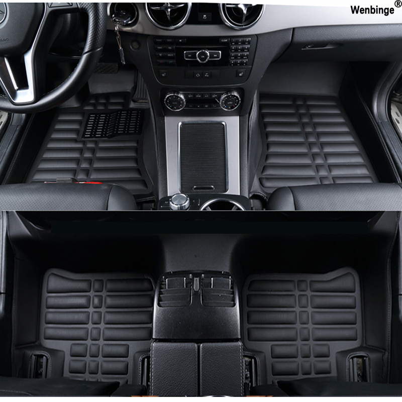 Custom car floor mats for Mitsubishi Pajero ASX Lancer SPORT EX Zinger FORTIS Outlander Grandis Galant car styling foot carpet red mitsubishi lancer fortis diecast model show car miniature toys classcal slot cars