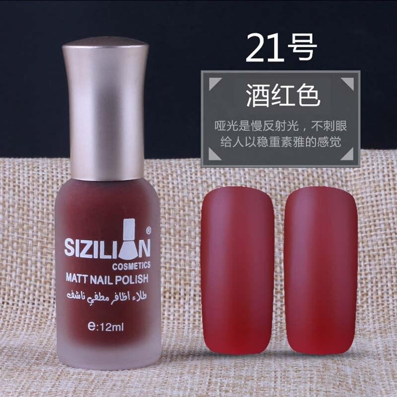 New 12ml Matte Dull Nail Polish Fast Dry Long lasting Nail Art ...