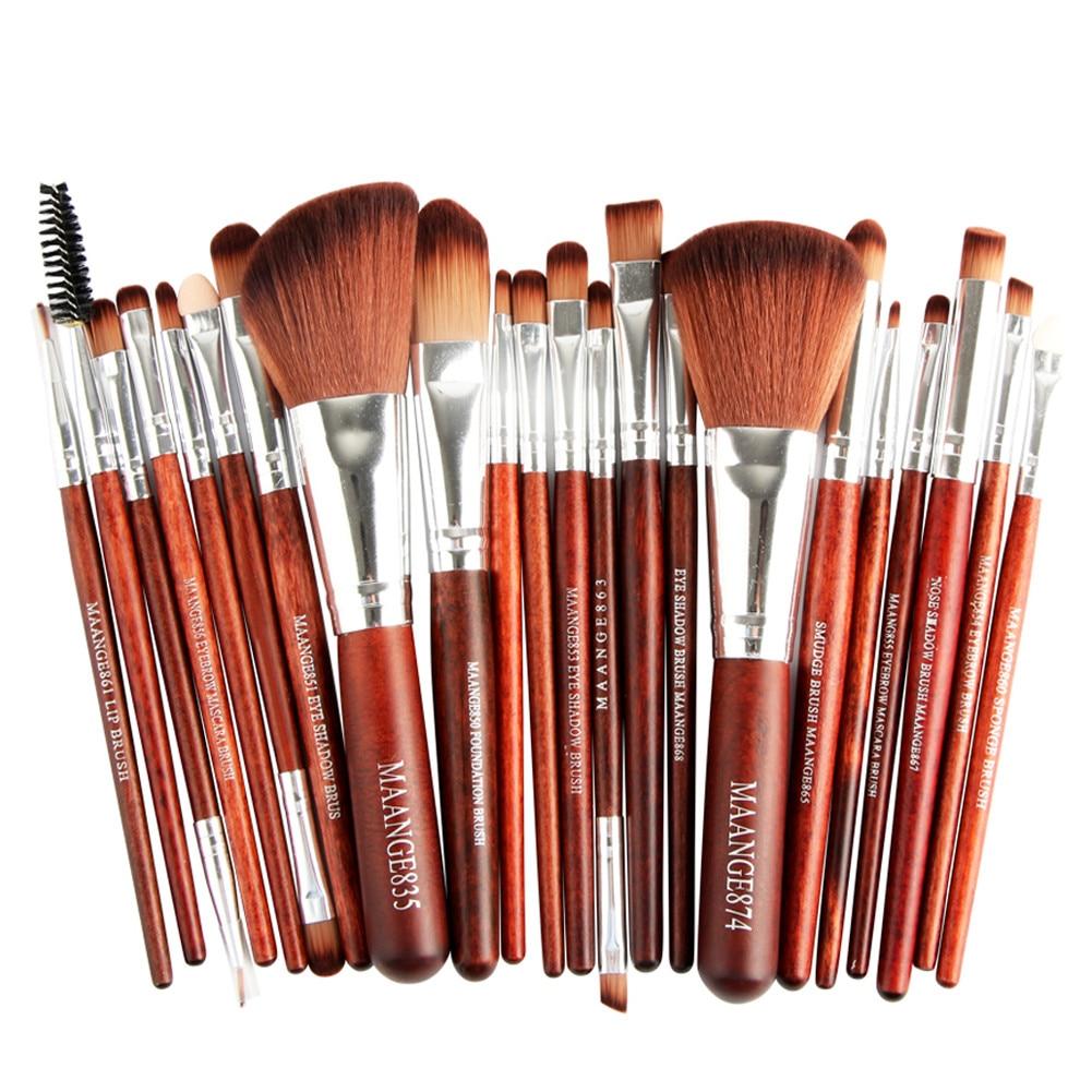 Pro 22pcs/set Makeup Brushes Powder Foundation Eyeshadow Eyebrow Eyeliner Blush Make up Brush Set Cosmetic Soft Synthetic Hair 3