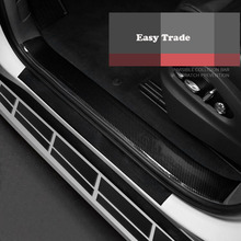 Car styling Carbon Fiber Rubber Door Sill  Protector Goods For Renault CLIO IV 4 2018 2017 2016 Accessories