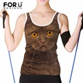 FORUDESIGN Animal Cats Fashion Vest Tops Women Pet Dogs Vest Slim Singlet for Ladies Summer Tanks Tops Female Casual Camis