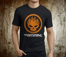 Printed T Shirts Online O-Neck New Popular The Offspring Skull Rock Band Black Size S-2Xl Men Short Sleeve Print Tee