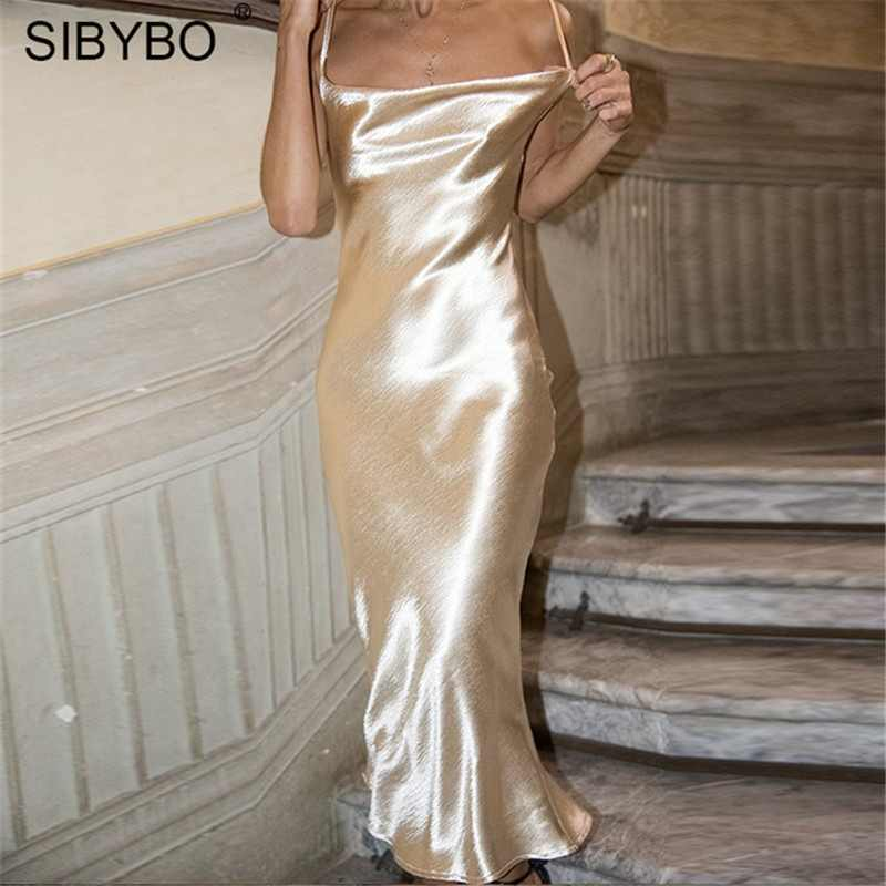 e2764a2f50 Detail Feedback Questions about Sibybo Sexy Spaghetti Strap Backless ...