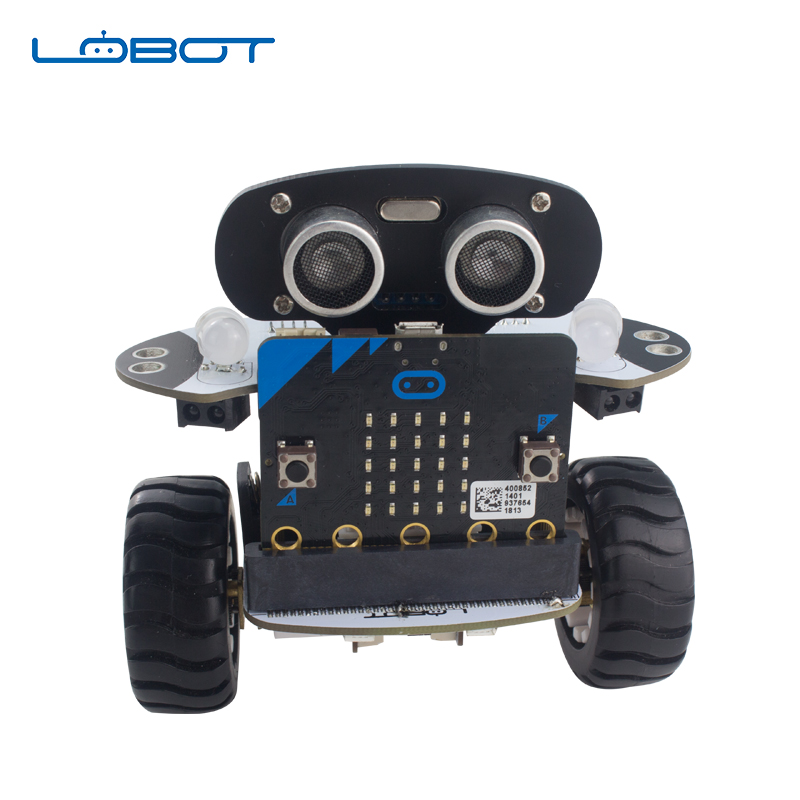 LOBOT Robot Arduino DIY Qbit Micro:bit Programming Inteligent Remote Control Car For Kids RC Parts  Toys For Children