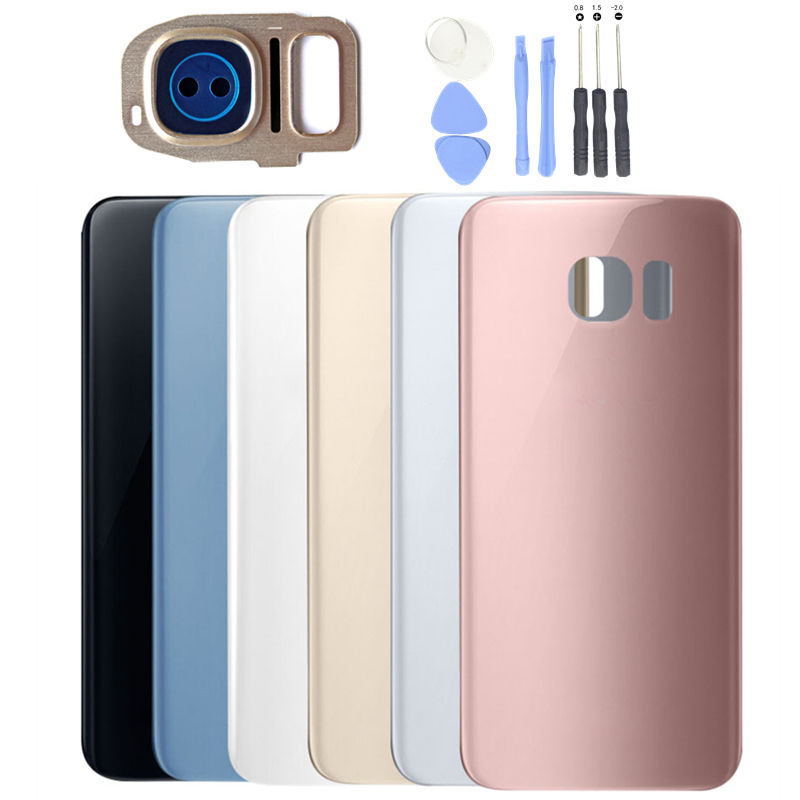 premium selection 49841 e57ff US $3.99 |for Samsung Galaxy S7/ S7 Edge Glass Rear Back Cover Battery Rear  Housing Door S7 G930 G935 Camera Glass Lens with 3M Glue-in Mobile Phone ...