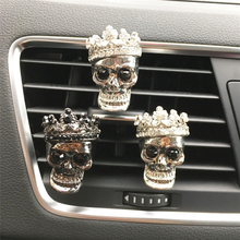 Nice Metal Skull Head Automobile Decoration Perfume Clip Car Air Freshener Cconditioning High Quality Accessorie