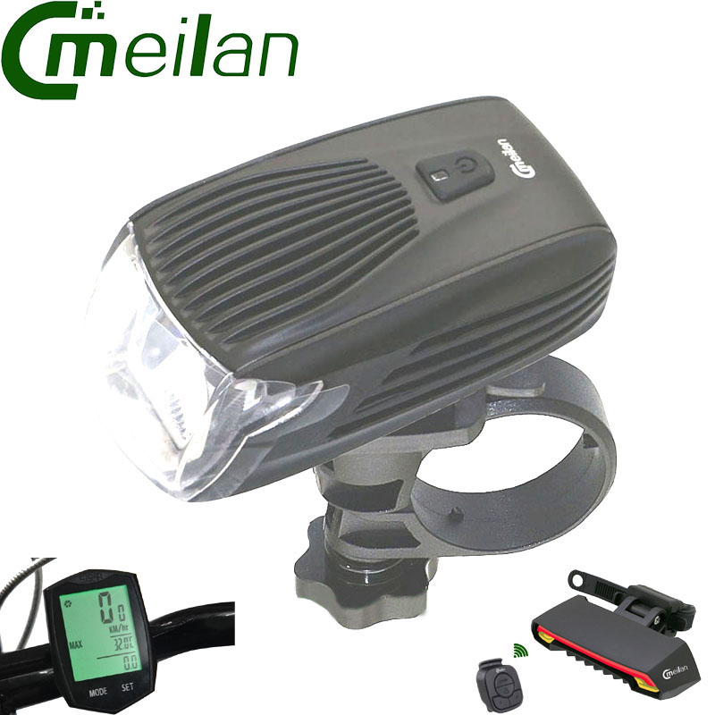 Ordinateur de vélo Compteur De Vitesse chronomètre et Cmeilan X5 Arrière lampe Vélo feux arrière et Meilan X1 Smart Vélo Lumière Vélo Led avant Lumière