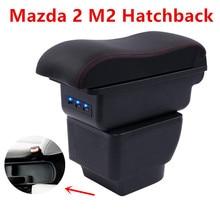 Для Mazda 2/демио/Mazda2 подлокотник коробка центральный магазин коробка содержание подкладке подлокотник хранения ПОДСТАКАННИК автомобиль-Стайлинг Аксессуары