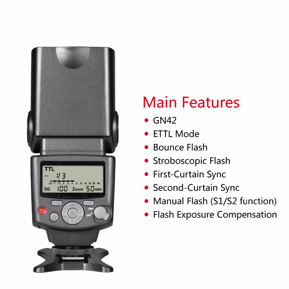 Image 4 - Voking VK430 I TTL LCD Display Blitz Speedlite Flash for Nikon  D5500 D3300 D7200 D3400 D5300 D500 D7500 D750 D5600 +GIFT-in Flashes from Consumer Electronics