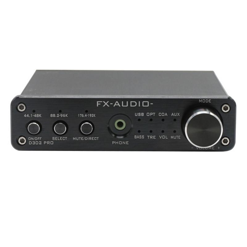 FX-Audio D302 PRO Digital Amplifier Audio DAC USB Optical Amplifier Home Power Amplifier 20W Hifi Amplifiers with Headphone amp amplifiers 2017 fx audio fx1002a 160w 2 tda7498e hifi 2 0 pure digital audio power amplifier mini home aluminum enclosure amp