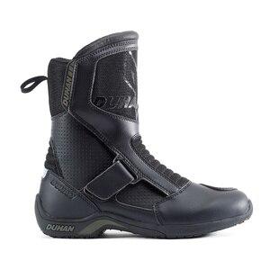 Image 4 - Мотоциклетные ботинки, мужские мотоциклетные дорожные гоночные ботинки из суперволокна, мотоциклетные ботинки, черные ботинки для мотокросса