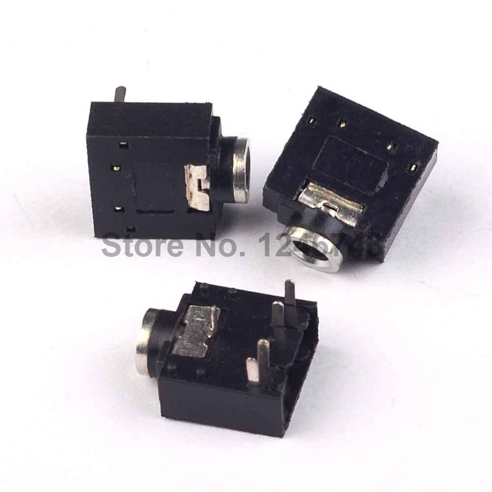 20PCS 3.5mm 1/8 Female Audio Connector 5 Pin DIP Stereo Headphone Jack PJ3024M 20pcs lot ka331 dip 8