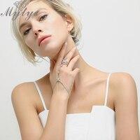 Mytys Mode Palme Armband Verbunden Finger Slave Armband Zirkon Weißgold Farbe Modeschmuck R1176