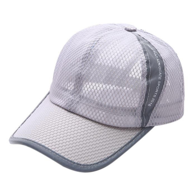 Hollow Mesh Style outdoor sport cap Boy Girl hiking camping baseball hat  caps sports Breathable net hats 9f6b8db2430