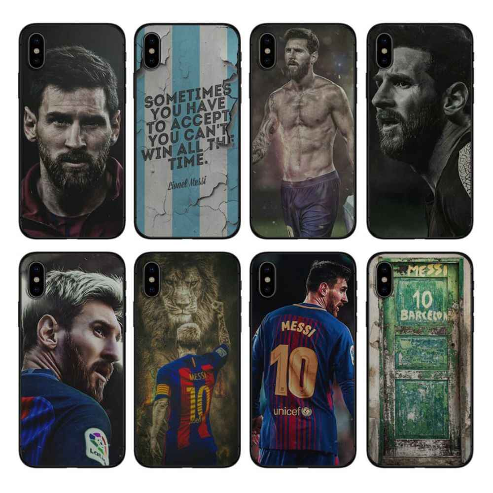 OUTMIX Weiche silikon abdeckung Fall Lionel Messi handy fall Für iphone 6 6s 7 7 plus 6 Plus 8 8 plus Coque