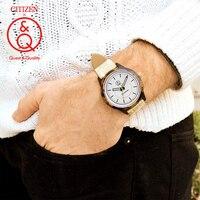 Citizen Q&Q Mens Watches Top Luxury Brand Waterproof Sport Wrist Watch Quartz solar watch women watches Relogio Masculino4J005Y