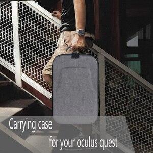 Image 5 - الصلب للماء حالة ل كويست Oculus الواقع الافتراضي VR نظارات و اكسسوارات للصدمات حقيبة للتخزين السفر حمل الغلاف