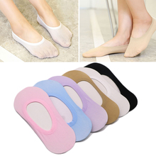 4Pair Summer Socks Short Women Non-slip Invisible Cotton Low Cut For Slippers Ankle Boat
