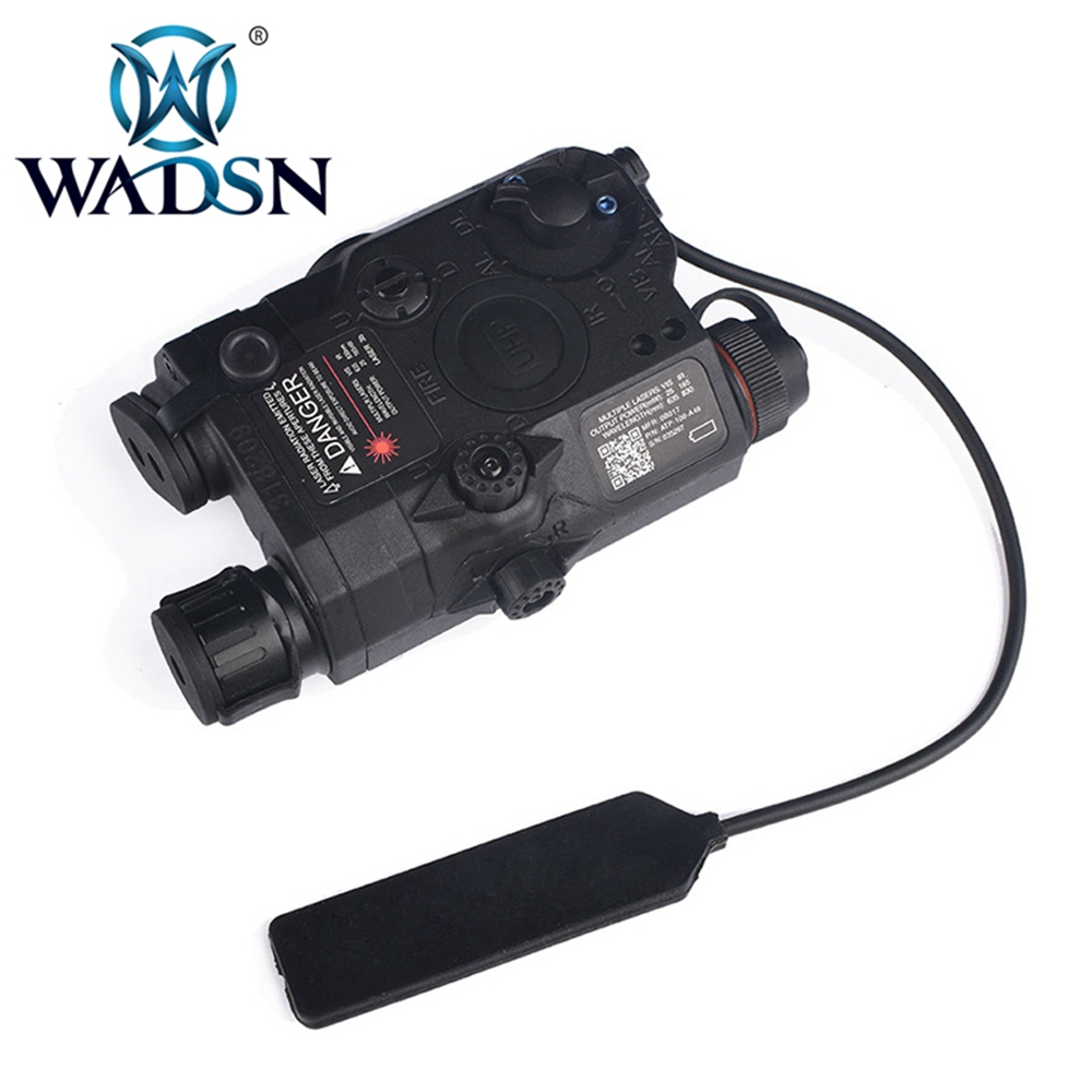 WADSN Airsoft LA 5 Red Lazer IR Laser LED Flashlight UHP Appearance IR laser PEQ 15 LA5C red lazer Tactical Weapon Light WEX396-in Weapon Lights from Sports & Entertainment